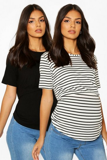 Grey Maternity 2 Pack Nursing Tee