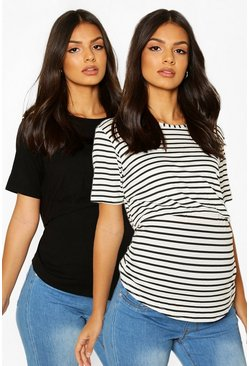 Black Maternity 2 Pack Nursing Tee