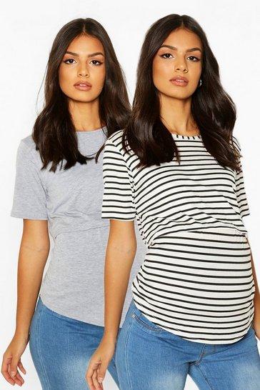 Grey Maternity 2 Pack Nursing T Shirt