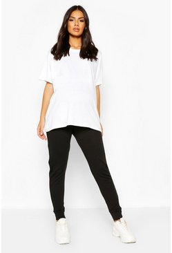 Black Maternity Lounge Jogger
