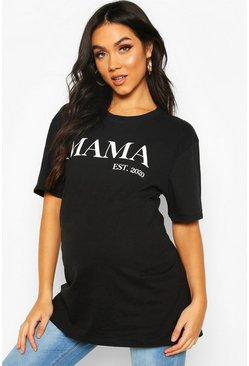 Black Maternity Mama Est 2020 T-Shirt