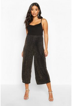 Gold metallic Maternity Shimmer Culotte Pants