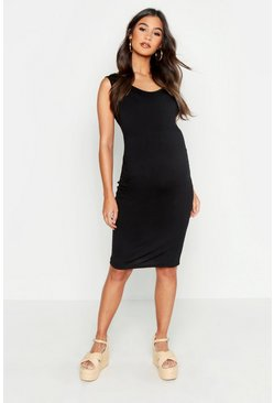 Black Maternity Bodycon Dress
