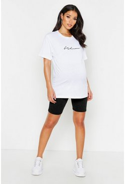 Black Maternity Basic Jersey Cycling Short