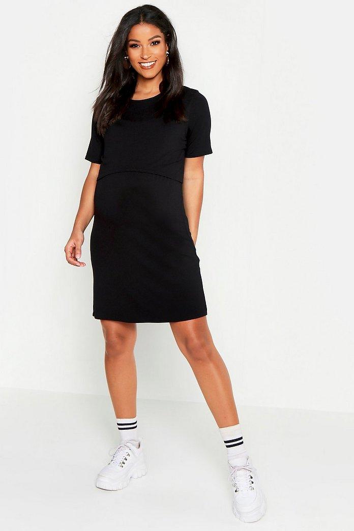 Maternity Nursing T Shirt Dress Boohoo