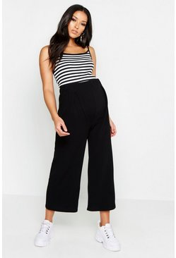Black Maternity Over The Bump Culottes