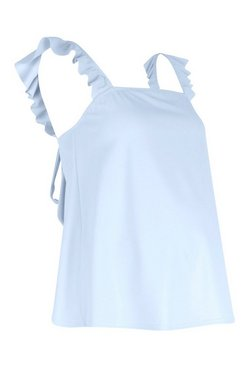 Sky Maternity Frill Shoulder Back Detail Cami
