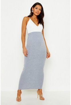 Grey Maternity Over The Bump Maxi Skirt