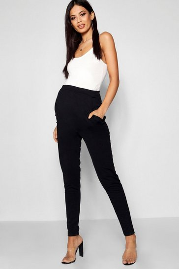 Black Maternity Tailored Slim Leg Trousers