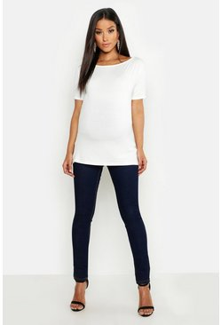 Indigo blue Maternity Over The Bump Skinny Super Stretch Jean