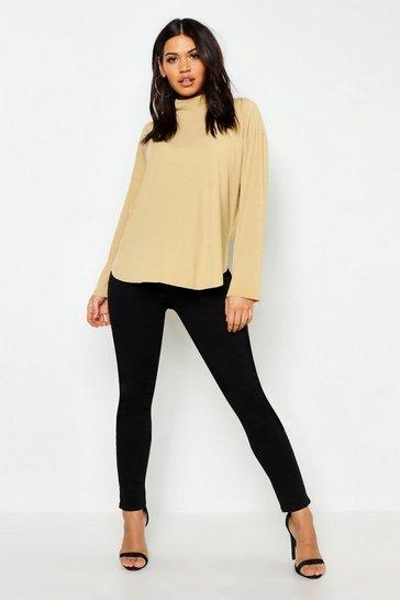 Black Maternity Over Bump Skinny Stretch Jeans