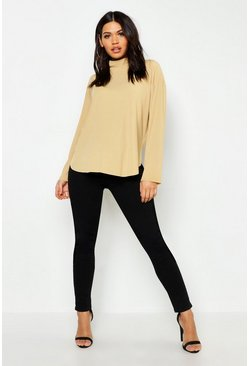 Black Maternity Over The Bump Skinny Super Stretch Jean