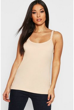 Nude Maternity Nursing Cami Top