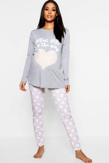 Grey Maternity Mini Me Pyjama Set