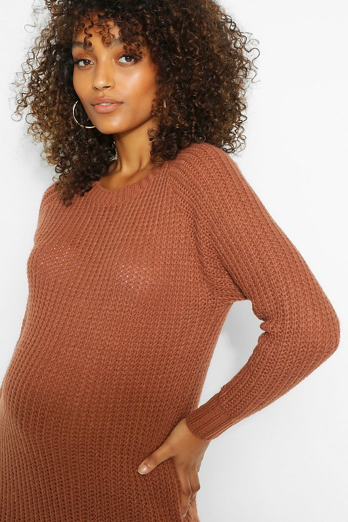Maternity Soft Knit Sweater Dress   boohoo Canada