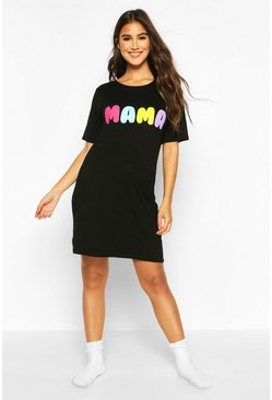 Black Maternity Mama Nightie