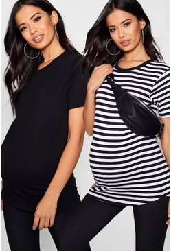 Multi Maternity  2 Pack T Shirt