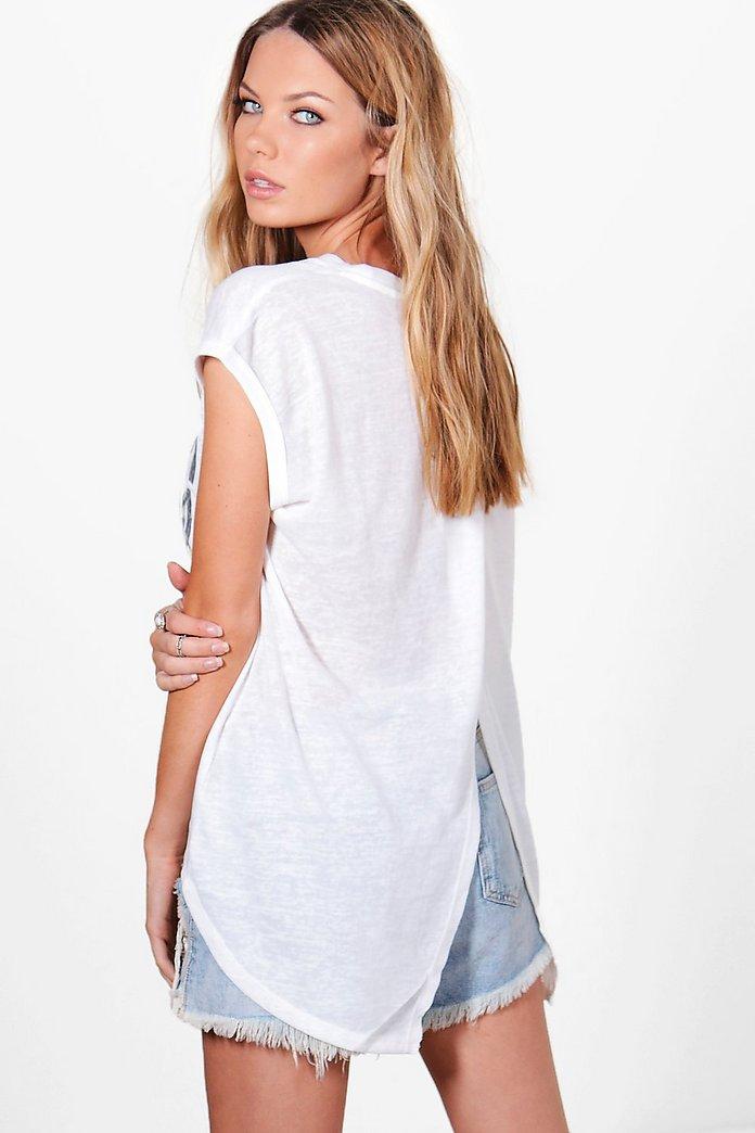 Paige Foil Print Oversized Vest | boohoo SE