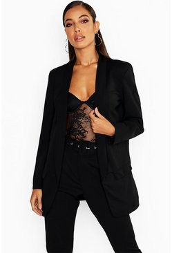 Tailored Blazer & Self Belt Trouser Suit Set