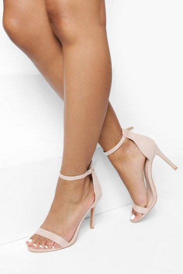 Blush pink Barely There Basic 2 Part Heels