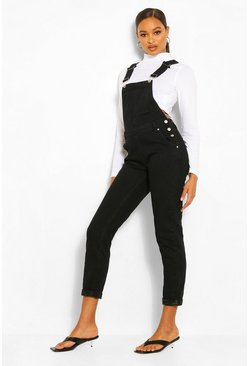 Black Boyfriend Denim Dungaree