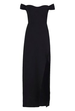 Black Off The Shoulder Maxi Dress