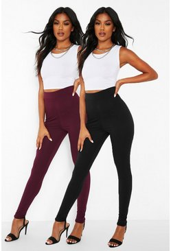 Berry 2 Pack Basic Highwaist Leggings