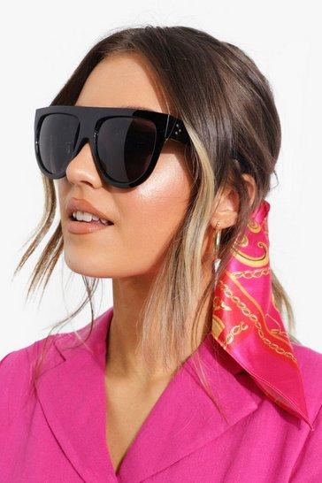 Oversized Flat Top Sunglasses