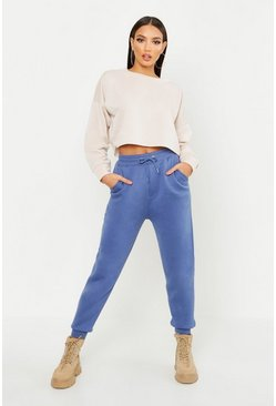 Denim-blue blue Basic Regular Fit Jogger