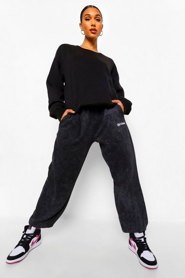 Black Basic Crew Neck Oversized Sweat