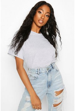 Grey marl Oversized T-Shirt
