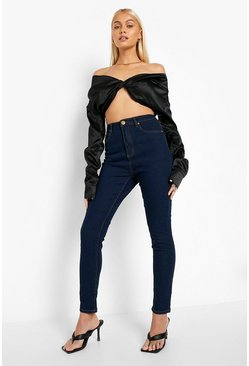 Dark blue High Waist Skinny Jeans