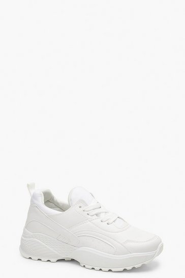 White Chunky Dad Trainers