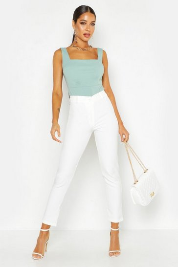 White Tapered Trouser