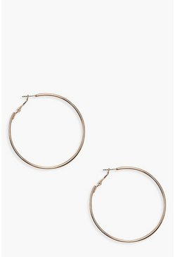 Gold 6cm Hoop Earrings