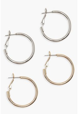 Multi 25mm Hoop Earring 2 Pack