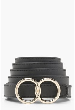 Black Double Ring Boyfriend Belt