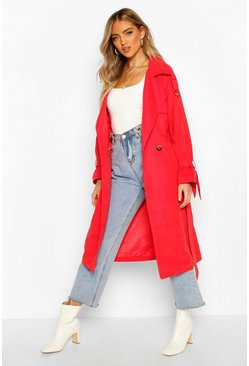 Red Belted Trench