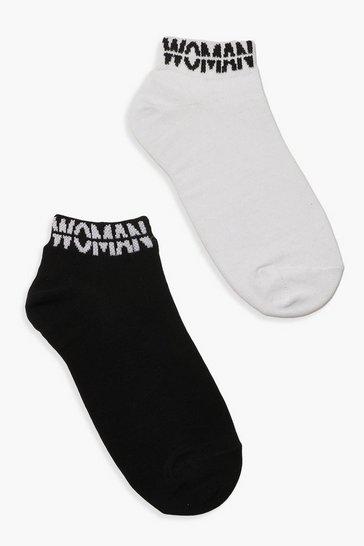 Multi WOMAN Cuff Ankle Socks 2 Pack