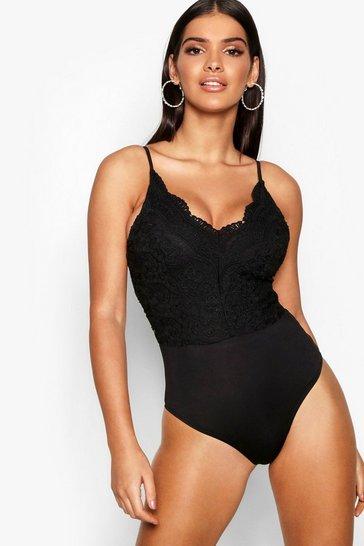Black Premium Lace Bodysuit