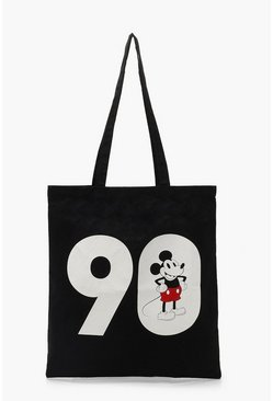 Black Disney Mickey 90 Tote Bag