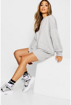 Grey marl The Perfect Oversized Sweat Dress