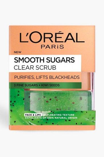 Green L'Oreal Sugar Clear Kiwi Face & Lip Scrub 50ml