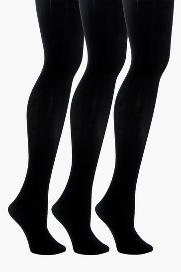 Black 60 Denier 3 Pack Microfibre Tights