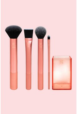 Orange Real Techniques Flawless Base Brush Set