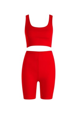 Red Cycling Short Co-Ord Set