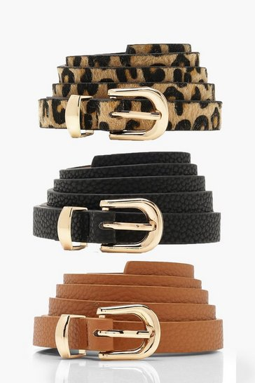 Multi 3 Pack Skinny Belt