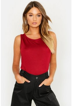 Wine red Basic Vest