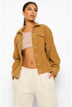 Tan Oversized Cord Jacket
