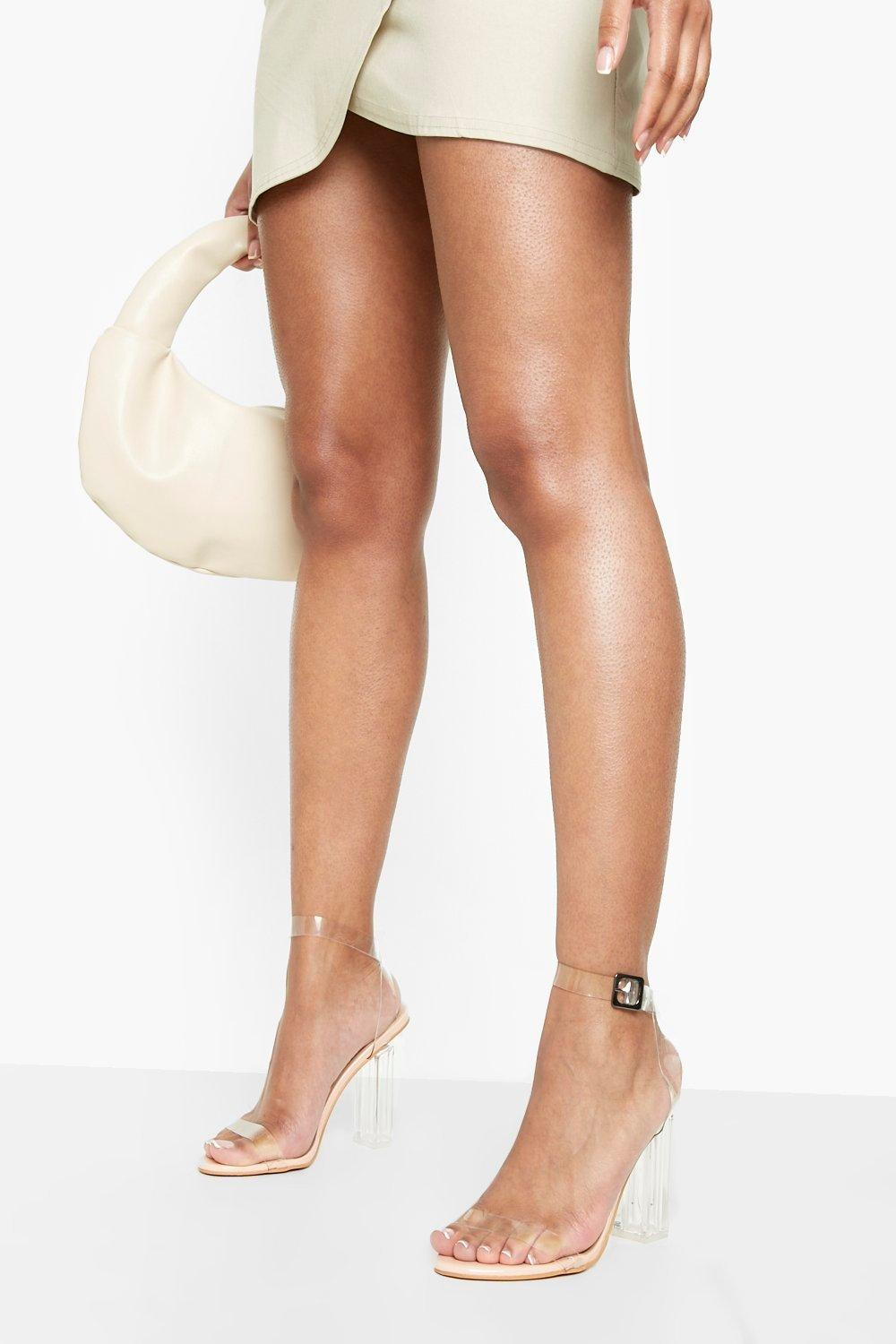 Clear Heels Clear Block Barely There Heels
